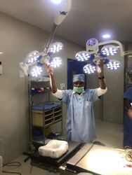 Medical Use Led Ot Operation Theater Ceiling 48+48 Double Dome Surgical Light