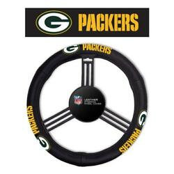 Green Bay Packers Leather Steering Wheel Cover [new] Nfl Car Auto Truck Suv