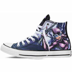 New Converse Catwoman Chuck Taylor All Star Hi Old Print Women's 8