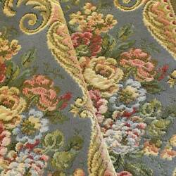 Gray Yellow Multi Floral Stripe Tapestry Decorating Fabric Fabric By The Yard