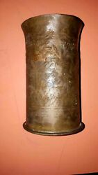 Rare Military Shell Case 1916 Ww1 Germany Antique Polte Larg Stamped War Worl