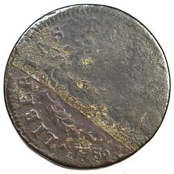 1786 1-a R6 Pointed Rays Nova Constellatio Colonial Copper Coin