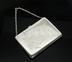 An Antique Victorian Solid Sterling Silver Aesthetic Period Card Case
