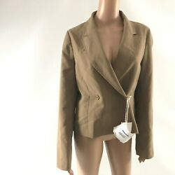 8 By Yoox Women's Blazer Size 46 /l Cropped Career Crepe Double Breasted Italy