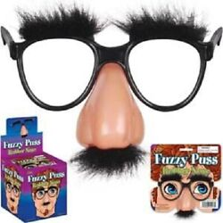 FUZZY PUSS BEAGLE PUSS RUBBER NOSE GROUCHO MARX GLASSES