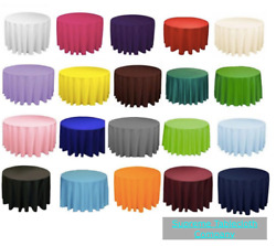 18 Packs 120 Inch Round Polyester Tablecloth Table Cover Wedding Event 5' Feet