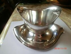 Rogers And Bro Silverplate Pattern Vintage Gravy Boat With Attached Plate 1847