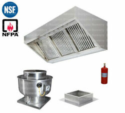 8and039 Ft Concession Trailer Food Truck Hood System Captiveaire Fan Fire System