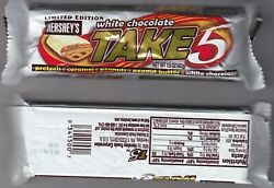 Vintage And Sealed Hershey's 2005 Limited Edition White Chocolate Take 5 Candy Bar