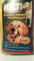 Holt Head Collar Black Size 3 Training Manual & Safty Strapm - New