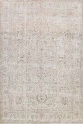 Semi Antique Distressed Traditional Hand-knotted Evenly Low Pile 10x12 Area Rug