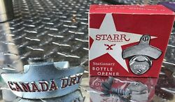 Canada Dry Stationary Bottle Opener And 2 Screws-starr Trademark
