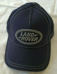 New Land Rover Hat Blue with Gray Embroidery One Size Fits Most Adjustable Cap