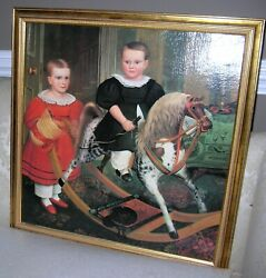 Williamsburg Style The Hobby Horse By Robert Peckham Print On Canvas