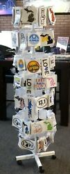 Retail Spinning Rack With 500 Premium Printed Stickers Included-great For Stores