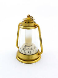 Jaeger 8-day Movement Lantern Clock With Digital Dial Extremely Rare