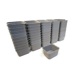 Pack Of 100 Gray Cage Cups For Feed/water For Poultry, Ducks, Birds, Hamsters