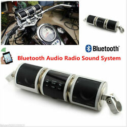 Motorcycle Bluetooth Audio Fm Radio Sound System Mp3 Stereo Speakers Waterproof