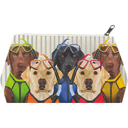 Paperproducts Design The Musketeers Labrador Dogs Cotton Cosmetic Bag Large $14.95