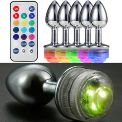 LED Light Funny Tail With Metal Plug Romance Sexual Game Toy Plug Anal-Butt Gift