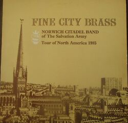 Norwich Citadel Band Of The Salvation Army - Fine City Brass - Lp - Bhss 0150