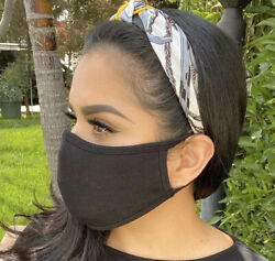 Face Mask 100% Cotton Designer Black