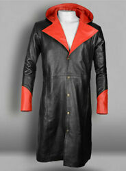 Devil May Cry 5 Dante Leather Coat Combination Coat With Stripe Look 50 Colors