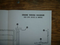 Bobcat 310 Engine Electrical Wiring Diagram Schematic Manual Sn16152- Up