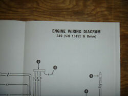 Bobcat 310 Engine Electrical Wiring Diagram Schematic Manual