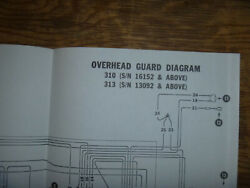 Bobcat 310 313 Overhead Guard Electrical Wiring Diagram Schematic Manual Sn16152
