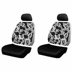 New Disney Mickey Mouse Expressions 3pc Low Back Seat Covers Universal Fit