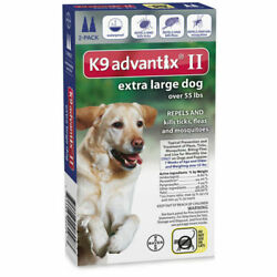 K9 Advantix II Flea amp; Tick Treatment for Extra Large Dogs over 55 lbs. 2 Pack