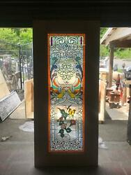 Beautiful Hand Made Stained Glass Victorian Style Entry Door - Jhl2167-29