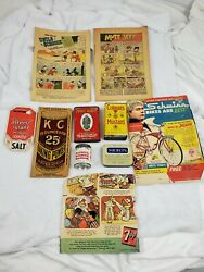 Vintage Advertising Comics And Tins Lot Of 10 Items Colmans Disney Mutt And Jeff