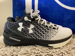 Under Armour Clutchfit Drive 1274422 001 White Black Mens Basketball Size 13 $69.99