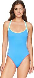 Polo Womenand039s 172086 Solids Racerback One-piece Swimsuit Size Xs