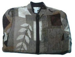 Womens Coldwater Creek Tapestry Jacket Zip Front Medium Multicolor