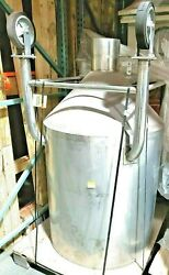 250 Gallon Stainless Steel Tank With Butterfly Valve On Casters