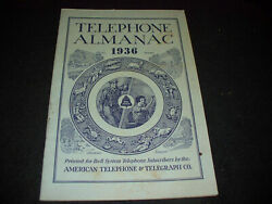 Original 1936 Bell System Telephone Almanac Shows History Of Phones And More