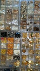 Large Vintage Collection Of Button Lot
