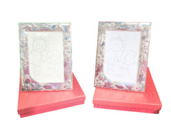Pair Of Sterling Silver Child Turtle Picture Frames