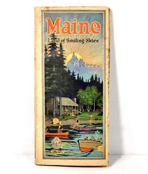 1900's Travel Book Of Maine Land Of Smiles And Remembered Vacations