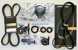 Aisin W/p And Timing Belt Kit W/ Serpentine Belt Tensioner Adjuster For Tl / Tsx