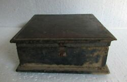 Vintage Old Wooden 5 Compartment Handcrafted Dry Fruit Box Collectible