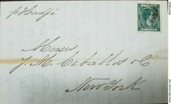A 1879 Puerto Rico, Mayaguez On Double Weight Folded Letter To Usa, Forward Age