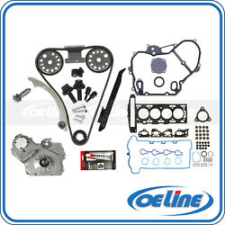 For 07 08 Chevy Cobalt Hhr 2.2l Head Gasket Set Timing Chain Oil Pump Cover Kit