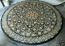 3 Feet White Marble Coffee Center Table Top Marquetry Inlay Mosaic Home Decor