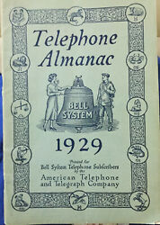 1929 Telephone Almanac - Bell System-by The American Telephone System
