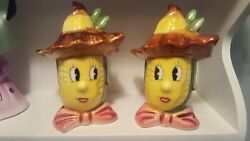 🎀 Vintgage Py Anthropomorphic Corn Salt And Pepper Shakers 🎀