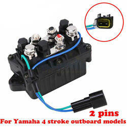 Trim Relay 2 Pins Starter For Yamaha F150 And 250 40-90hp Outboard 63p-81950-00-00